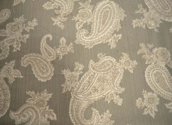 Large Paisley Grey P Kaufmann Fabric