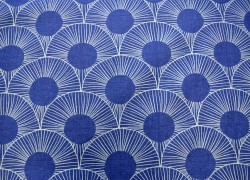 Deco Navy Bartson Fabric