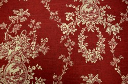 Country House Toile Red Waverly Fabric