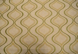 Embroidered Ogee Natural Fabric