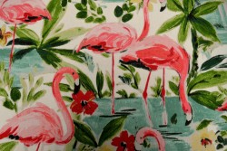 Floridian Flamingo In Bloom Waverly Fabric