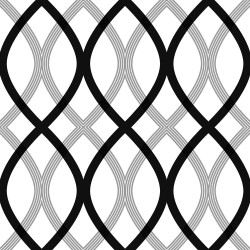 Contour Black Geometric Lattice Wallpaper