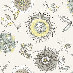 Maisie Green Floral Burst Wallpaper