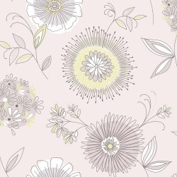 Maisie Purple Floral Burst Wallpaper