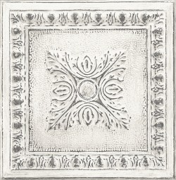 2540-24031 Ornamental Off-White Tin Tile Wallpaper