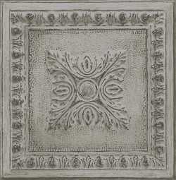 2540-24034 Ornamental Grey Tin Tile Wallpaper