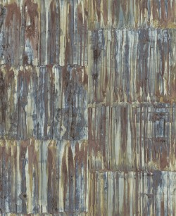 2540-24064 Patina Panels Multicolor Metal Wallpaper