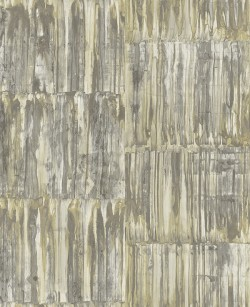 2540-24065 Patina Panels Yellow Metal Wallpaper