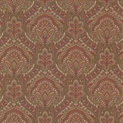 Cypress Burgundy Paisley Damask Wallpaper