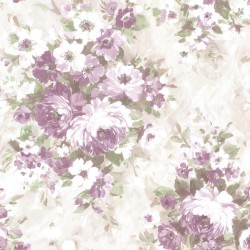 Belle Purple Floral Bouquet  Wallpaper