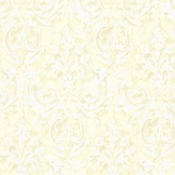 Aurora Yellow Damask Wallpaper