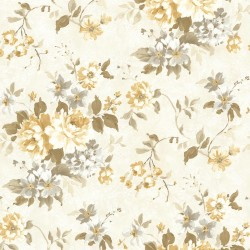 Eloise Yellow Floral  Wallpaper