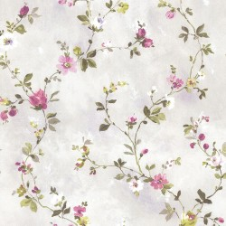 Isabella  Purple Floral Trail Wallpaper