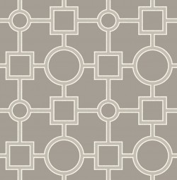 Matrix Taupe Geometric Wallpaper