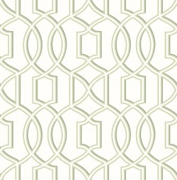 Quantum Green Trellis Wallpaper