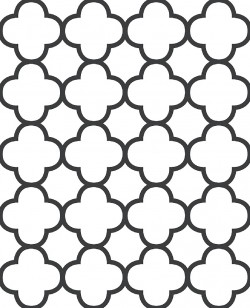 Origin Black Quatrefoil Wallpaper