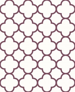 Origin Burgundy Quatrefoil Wallpaper