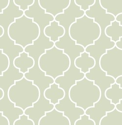 Desiree Sage Quatrefoil Wallpaper