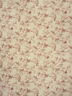Gorgeous Aviary Toile Rouge Fabric
