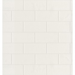 For Your Bath III Paintable White Tile Wallpaper