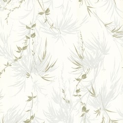 For Your Bath III Zumi Blue Palm Leaves Wallpaper