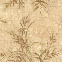 For Your Bath III Kazumi Taupe Bamboo Texture Wallpaper