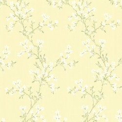 For Your Bath III Altha Yellow Jasmine Trail Wallpaper