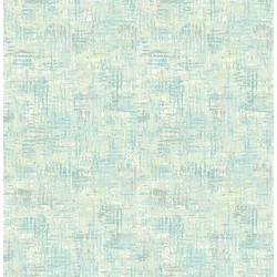 Texture Trends II Avalon Turquoise Weave Wallpaper