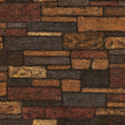 Texture Trends II Clayton Charcoal Stone Texture Wallpaper