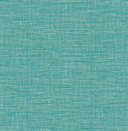 2744-24118 Exhale Teal Faux Grasscloth Wallpaper