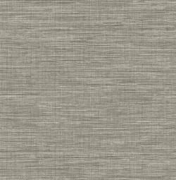 2744-24119 Exhale Grey Faux Grasscloth Wallpaper