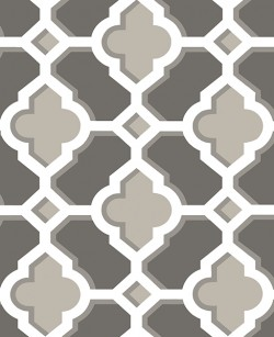 2744-24122 Lido Grey Quatrefoil Wallpaper