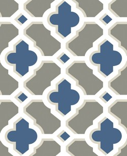 2744-24125 Lido Navy Quatrefoil Wallpaper