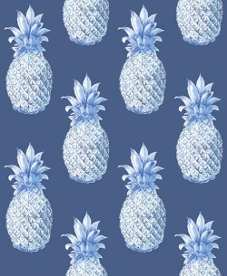 2744-24139 Copacabana Navy Pineapple Wallpaper