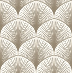 2763-24231 Dusk Taupe Frond Wallpaper