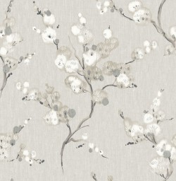 2764-24306 Bliss Taupe Blossom Wallpaper