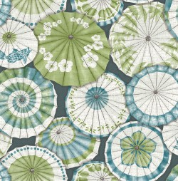 2764-24360 Mikado Teal Parasol Wallpaper