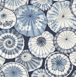 2764-24361 Mikado Blue Parasol Wallpaper