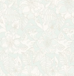 2766-003540 Vera Light Blue Flowers Wallpaper