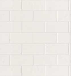 Barclays Paintable Paintable White Tile Wallpaper
