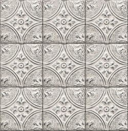 2766-23763 Houston White Tin Tile Wallpaper