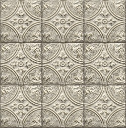 2766-23764 Houston Cream Tin Tile Wallpaper