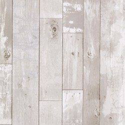 2767-20131 Harbored Light Grey Distressed Wood Panel Wallpaper