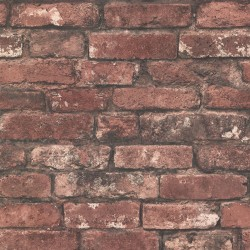 2767-21258 Davis Dark Red Exposed Brick Texture Wallpaper
