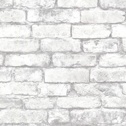 2767-21261 Garett Off-White Brick Wallpaper