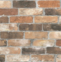2767-22300 Adams Red Reclaimed Bricks Wallpaper