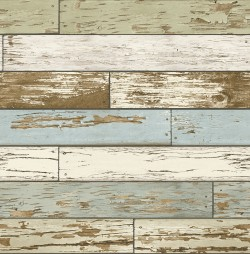 2767-22302 Borough Blue Scrap Wood Wallpaper