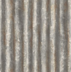 2767-22333 Alloy Silver Corrugated Metal Wallpaper