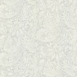Lula Grey Paisley Wallpaper