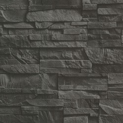 Collegiate Charcoal Stacked Slate Wallpaper